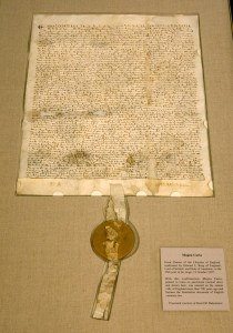 National Archives Displays An Original Copy Of Magna Carta